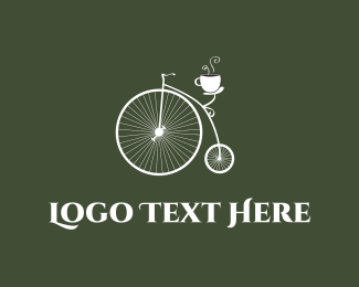 Coffee - Old Bicycle Cafe logo design