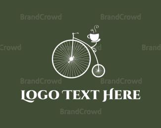 Bicycle - Old Bicycle Cafe logo design