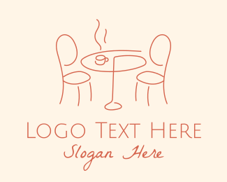 European - Alfresco Cafe Dining Table logo design
