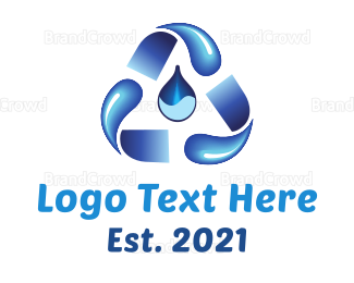 Pure - Water Recycling logo design