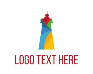 Beacon - Colorful Lighthouse logo design