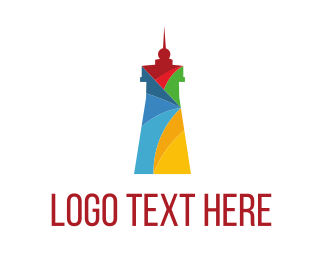 Road - Colorful Lighthouse logo design