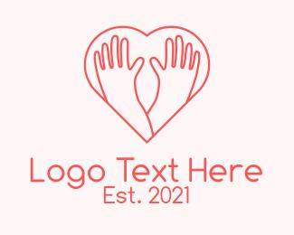 Partner - Minimalist Care Heart logo design