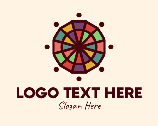Color Wheel - Colorful Mosaic Wheel logo design