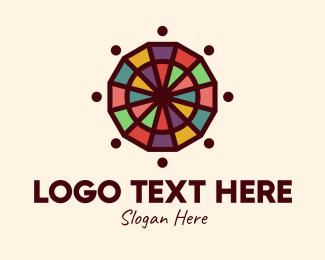Wheel - Colorful Mosaic Wheel logo design