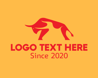 Bull - Hot Bull logo design
