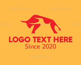 Aggressive - Hot Bull logo design