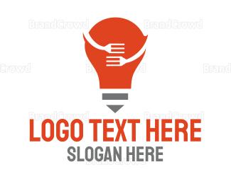 Bulb - Bulb Kitchen  logo design