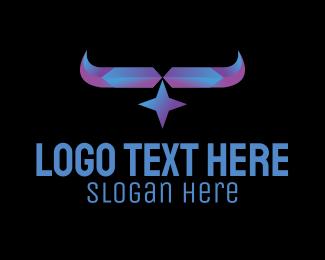 Horn - Crystal Star Horn logo design