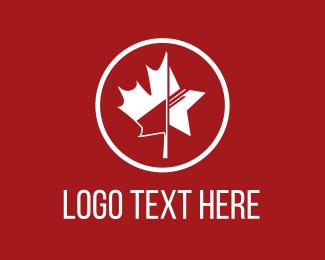 Politician - Star & Leaf logo design