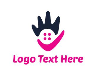 Hand - Abstract Hand logo design