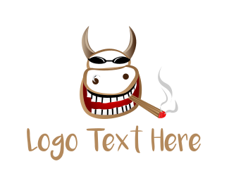 Vape - Smoker Cow logo design