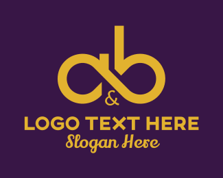 """""""Gold A&B Lettermark"""" by Mypen"""