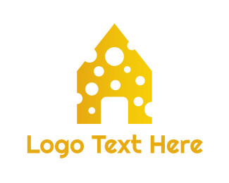 Yellow House - Yellow Cheese House logo design