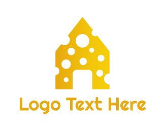 Swiss - Yellow Cheese House logo design