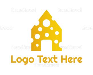 Dairy - Yellow Cheese House logo design