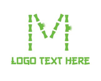 Log - Bamboo Letter M logo design