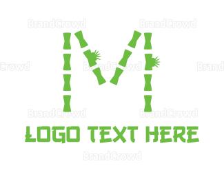 Bamboo - Bamboo Letter M logo design