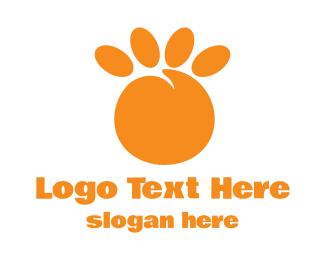 Peach - Orange Peach Paw logo design
