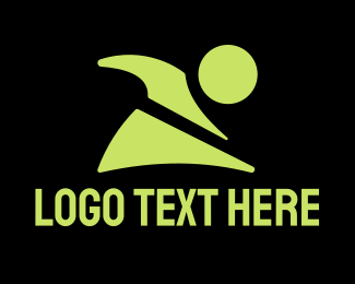 Cross Country - Active Fitness Person Character logo design