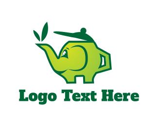 Elephant - Green Teapot logo design