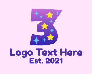 Kids Apparel - Starry Three logo design