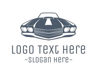 Limousine - Vintage Car logo design