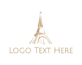 Brown Tower - Brown Eiffel Tower logo design