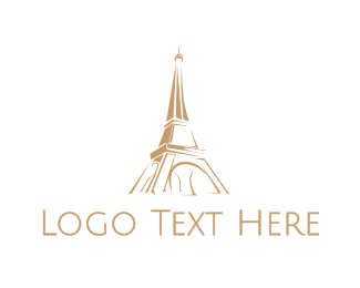 """Brown Eiffel Tower"" by eightyLOGOS"