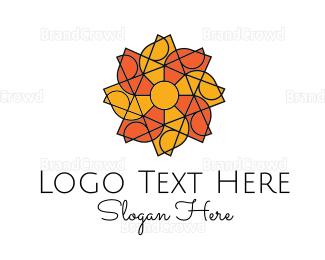 Care - Solar Flower logo design