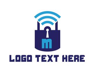 Online - Online Safe logo design