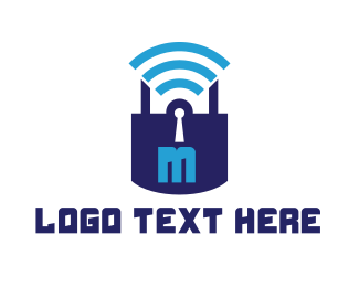 Wireless - Online Safe logo design