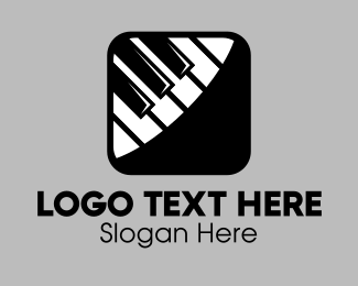 Music App - Piano Music Mobile App logo design
