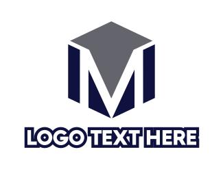 Tradesman - Masculine Cube M logo design