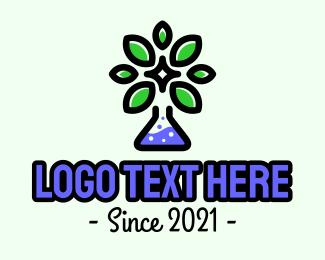 Chemical - Herbal Chemical Science logo design