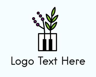 Classical Music - Piano Garden Music School logo design