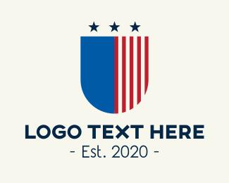 Patriot - American Shield logo design