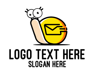 Cartoon - Snail Mail Cartoon logo design