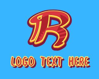 Graffiti   Artist - Graffiti Art Letter R logo design