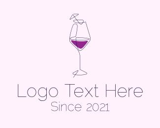 Beach Club - Martini Cocktail Bar logo design