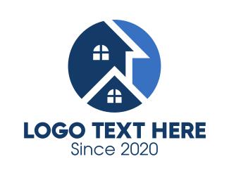 Apartment - Blue Apartment House logo design