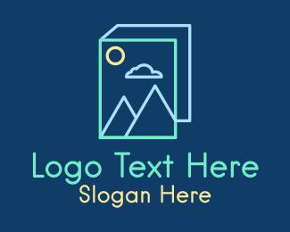 Travel Guide - Travel Landscape Book  logo design