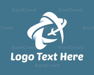 White - White Airplane logo design