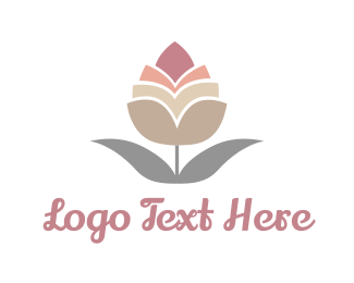 Cotton - Pink Bud logo design