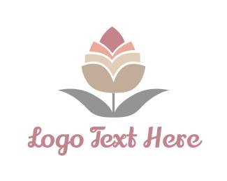 Cotton - Pink Bud logo design