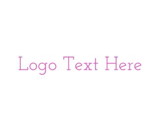 Pink & Vintage Font Logo