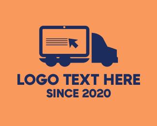 Ecommerce - Digital Truck Cargo Delivery logo design
