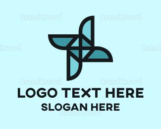 Rotate - Origami Blue Mill logo design