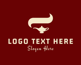 Genie - Arabian Lamp logo design