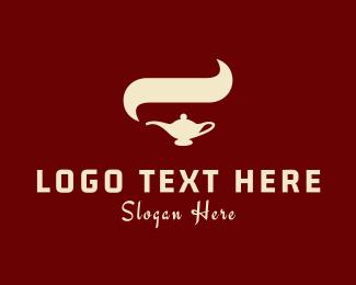 Pipe - Arabian Lamp logo design